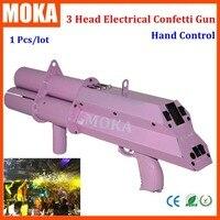 1 Pcs new battery fx stage confetti machine triple shot pink confetti gun confetti streamer Wedding Confetti Popper
