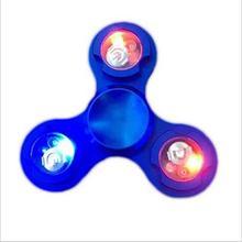 LED Metal Hand Fidget Spinner Aluminium Alloy Finger Toys Kid Adult ADHD EDC Focus Gyro Stress