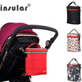 Insular Insulation Thermal Bags for Stroller Waterproof Multi-functional Mother Diaper Nappy Bag Mommy Aluminum Foil Cooler Bags