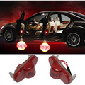 2x Car Door Ghost Shadow Projector No Drill 3D Laser Logo Light For Ford Mondeo S-MAX