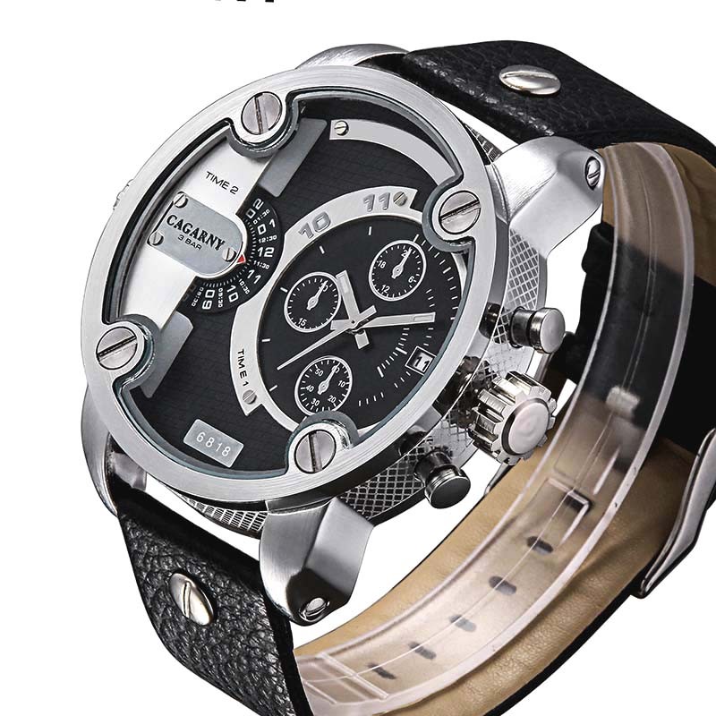 Watches Men Luxury Top Brand CAGARNY New Fashion Men's Big Dial Designer Quartz Watch Male Wristwatch relogio masculino relojes men s fashion brand quartz watch big dial silicone watches male high quality business leisure sports gift wristwatch new hour