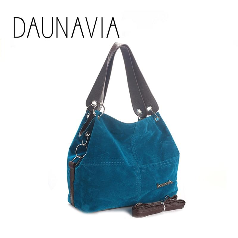 DAUNAVIA Brand Handbag Tote-Bag Messenger Shoulder Female Vintage Large Soft-Corduroy