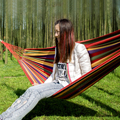 190*80cm Striped Canvas Single Hammock Hanging Bed for Outdoor Camping Travel indoor thickening hammock