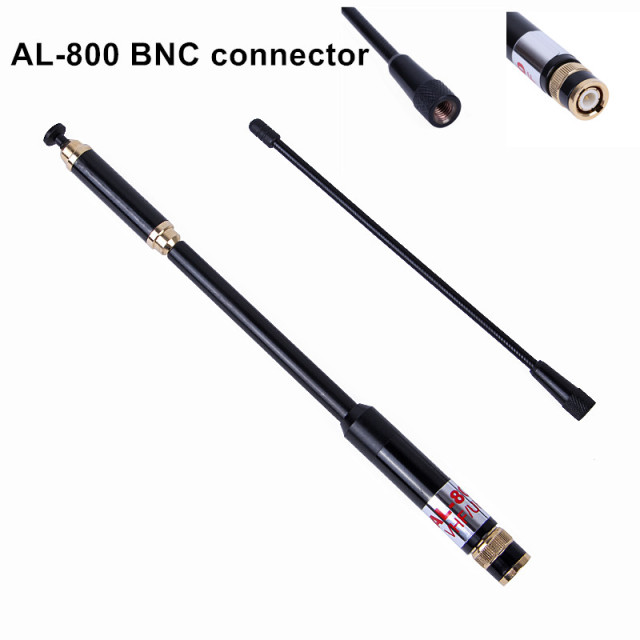 Best AL-800 BNC Dual Band 144/430MHz High Gain Super High Quality Telescopic Antenna for Kenwood TYT HYT YAESU AL800