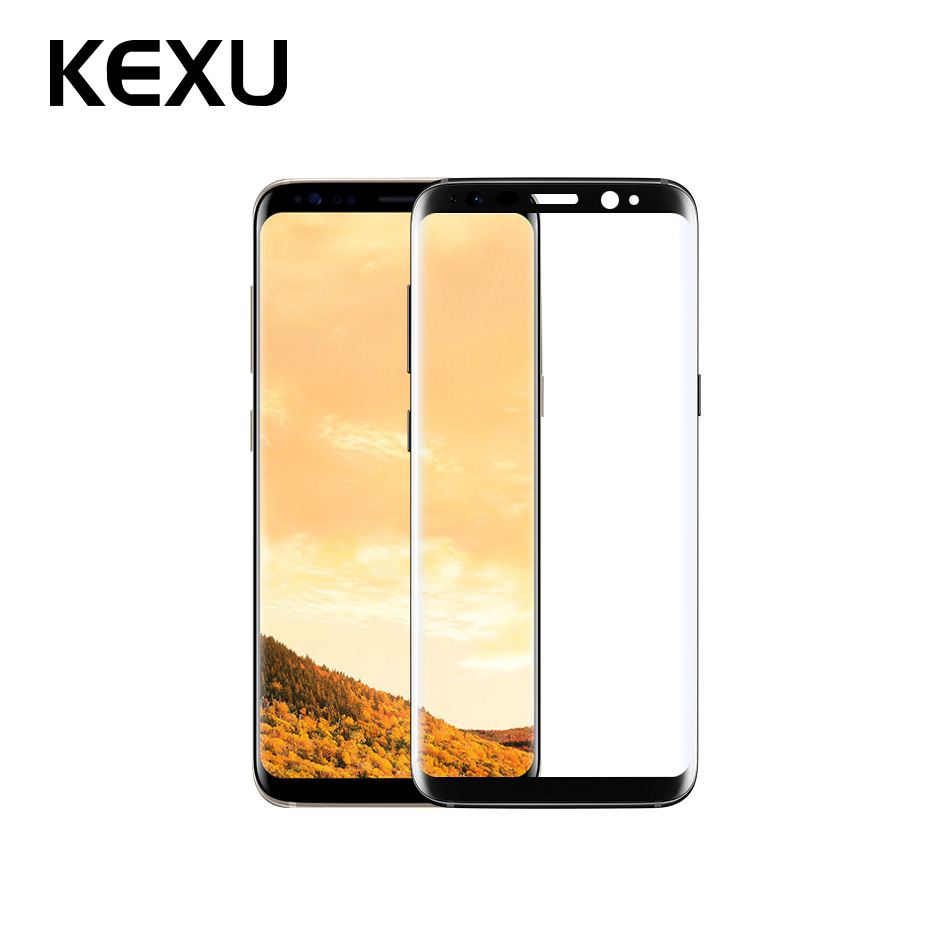KEXU 9H 3D Full Curved Screen Protector Tempered Glass For Samsung Galaxy S8 Tempered Glass For Samsung Galaxy S8 Plus Glass