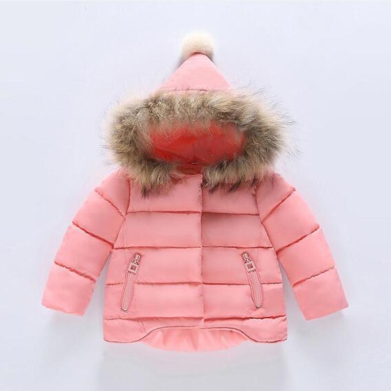 Buenos Ninos 12M 9T girls cotton padded detachable false fur hooded before short black long irregular