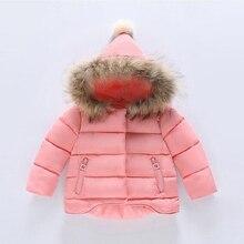 Buenos Ninos 12 M-9 T filles coton-rembourré amovible faux de fourrure à capuchon avant court noir longue irrégulière A/W manteaux et vestes 40