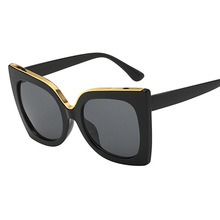 Fashion Womens Sunglasses Brand Designer Retro Cat Eye Female Big Sun Glasses Vintage Eyewear