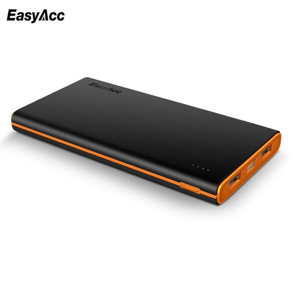 imágenes para EasyAcc 10000 mAh Powerbank Brillante Paquete de Cargador Portátil de Batería Externa para el iphone Samsung HTC Smartphones Tablets