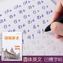 Круговой Английский алфавит слова буквы круглые руки письма Авто сухой Повтор тетрадь для практики 3D паз тетрадь