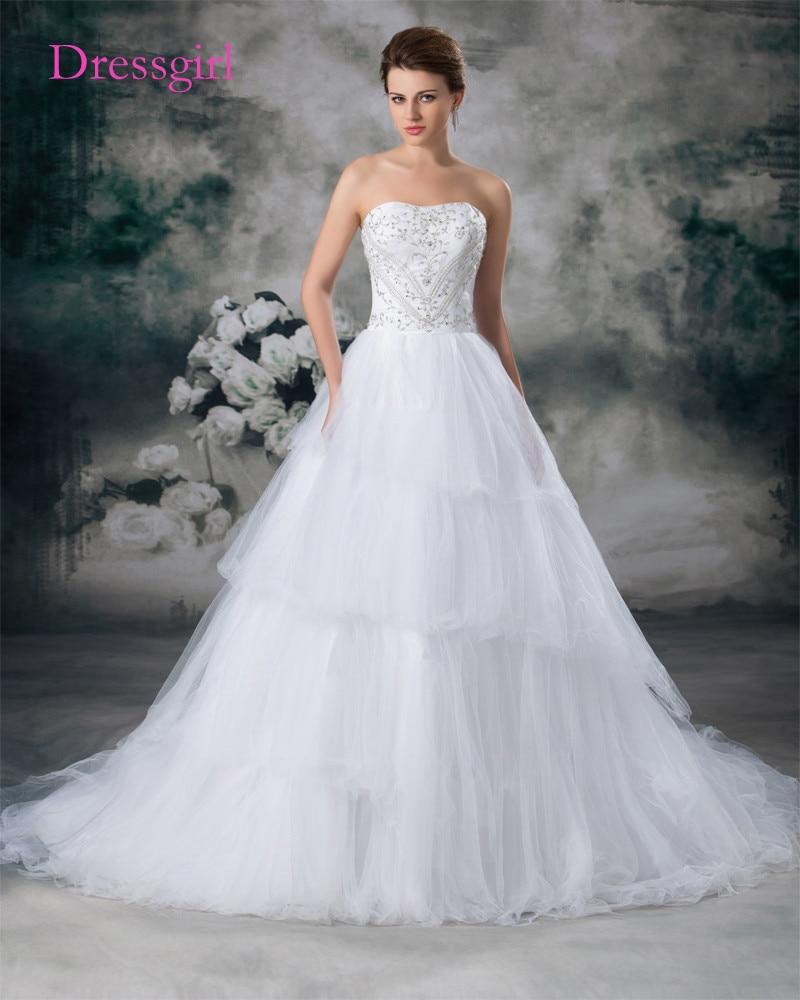 Plus Size Vestido De Noiva 2017 Vestidos de Noiva A Linha Querida Tulle Bordado Bead Turquia Boho Do Vestido de Casamento Vestidos de Noiva
