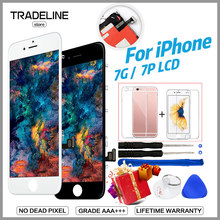 Grade AAA Screen For iPhone 6 7 7Plus LCD With 3D Force Touch Screen Digitizer Assembly Display 100% No Dead Pixel Free Shipping show csb40t bk
