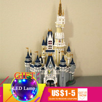 Шт. 4080 16008 шт. Золушка Принцесса замок город модель комплект совместим с 71040 здания Конструкторы подарок игрушечные лошадки