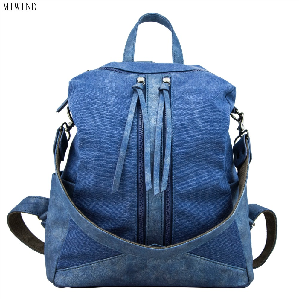 MIWIND 2017 NEW arrival Vintage Bag Cotton Canvas Backpack Preppy Style Men and Women Unisex Backpack Casual Schoolbag TJM857MIWIND 2017 NEW arrival Vintage Bag Cotton Canvas Backpack Preppy Style Men and Women Unisex Backpack Casual Schoolbag TJM857