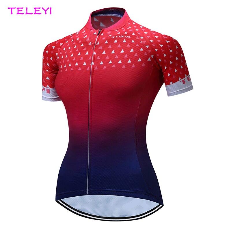 Prix pour Dames À Manches Courtes Vélo Maillot Rouge Femmes de Cycle Jersey Tops Vélo Shirts XS-4XL