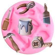 Sugar Craft Paint-Brush-Tools Chocolate-Cake-Decorating-Tools Mould Fondant-Mold Resin Clay