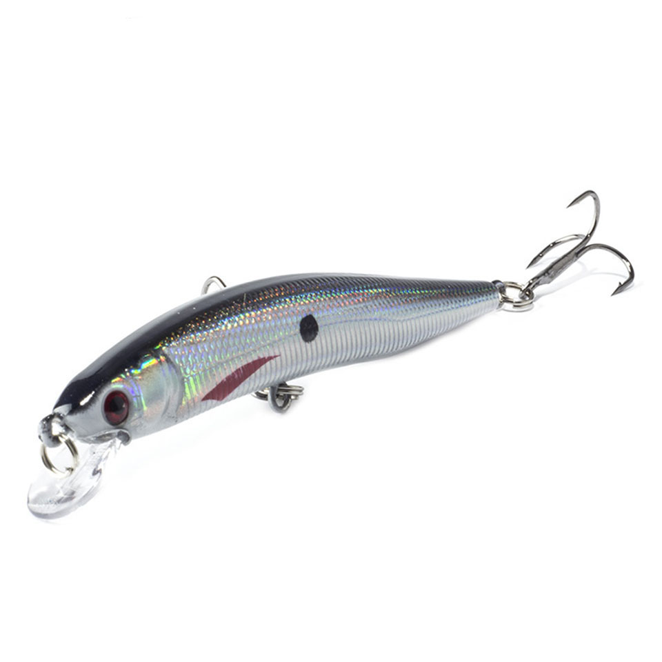 1PCS 1Pcs 10cm 8.5g Floating Minnow Fishing Lure Laser Hard Artificial Bait 3D Eyes Fishing Wobblers Crankbait Minnows цена