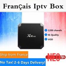 Доставка из Франции gotit X96mini Amlogic S905W 4 ядра android 7.1.2 2 г/16 г 4 К * 2 К UHD HDMI 2.0A Франции IP ТВ Android TV Box