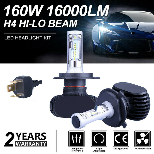 SITAILE 2PCS Car Fog Lights Auto Koplamp LED H1 H3 H4 LED H8 H9 H11 9006 HB4 Fog Lamp Highlights Turn Signal Running Light