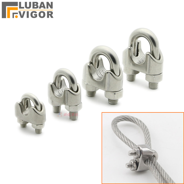 Stainless Steel Wire Clip | 304 Stainless Steel Chuck Wire Rope Clip U Clip Wire Clip Rolling