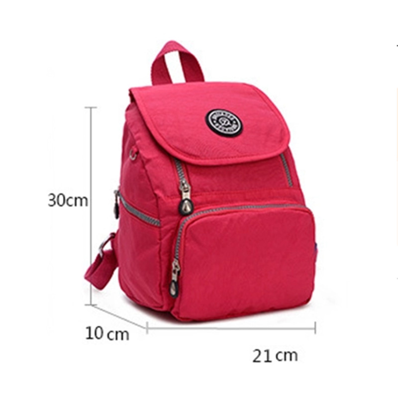 2017 Women Nylon Waterproof Backpack cheap backpacks female girl ...