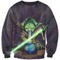 Новейшие Толстовки Мужчины Весна/Осень Бренд-Clothing 3D Звездные войны Jedi Knight Печатных Пуловер Прохладный Мужчины Толстовка