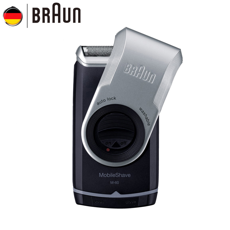 Braun Electric Shaver M60 Electric Razor with Battery for Men Portable Washable Face Care Hair Mustache Razor Safety