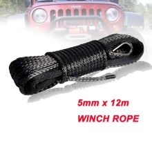 Rope Winch-Line Thimble Off-Road Synthetic 4x4 with Sheath And for 4wd Atv Utv 5mm--12m
