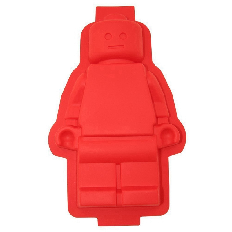 1PCS Big Robot Cake Chocolate Pan Silicone Ice mold Lego Mold Chocolate Mold Baking Dish Silicone Lego Mold Decorating Tools