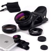 Универсальный Fisheye 3 в 1 широкоугольный макрообъектив смартфон мобильный телефон линзы Рыбий глаз для iPhone 6, 6 S 7 s плюс Камера Lentes