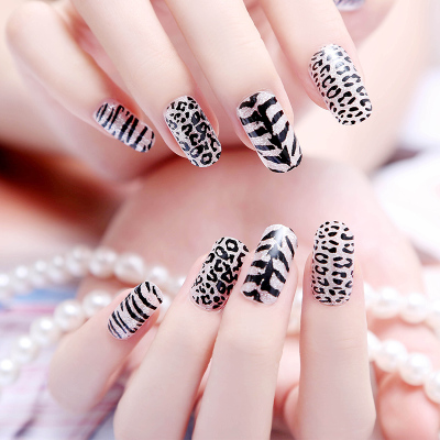 Leopard print design decoration nail art stylish cute beauty leopard print design decoration nail art stylish cute beauty glitter 3d halloween nail decal full prinsesfo Images