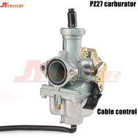 PZ27 27mm Carburetor Carb motorcycle pump accelerator Carburettor CG XL 125 150 175 cable choke