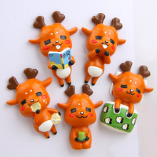 (5pieces / lot)Nara deer hand-made cartoon creative three-dimensional refrigerator