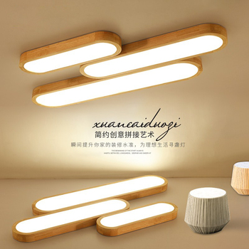 Modern LED Tavan Işıkları Ahşap oturma odası yatak odası lamparas de techo colgante ev dekoratif ahşap led tavan lambası