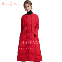 Winter and Autumn warm down long female coat 90% white duck down womens down jacket plus size parkas outwear TOP SELL