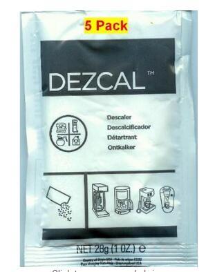urnex dezcal 1 kg - URNEX DEZCAL COFFEE MAKER & ESPRESSO DESCALER - 5 PACK