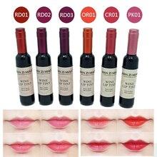 Бледно-розовый batom вино красное оттенок жидкая косметический помада корейский форма губ