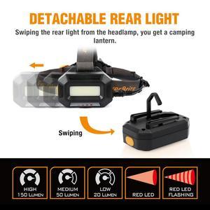 Image 2 - Everbrite lâmpada de cabeça recarregável, 3000 lúmens, com zoom, super clara, resistente à água ipx4, 10 modos de iluminação, tocha