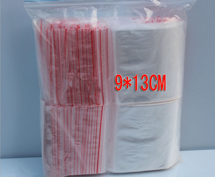 500PCS 9x13cm transparent travel gift packing bag plastic bag for necklace/jewelry/ food small ziplock clear self seal bags pe