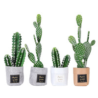 Northern Europe Bag Cactus Simulation Plant Potted Decor Figurines Living Room Study Greenery Shooting Props Creative Home Decor