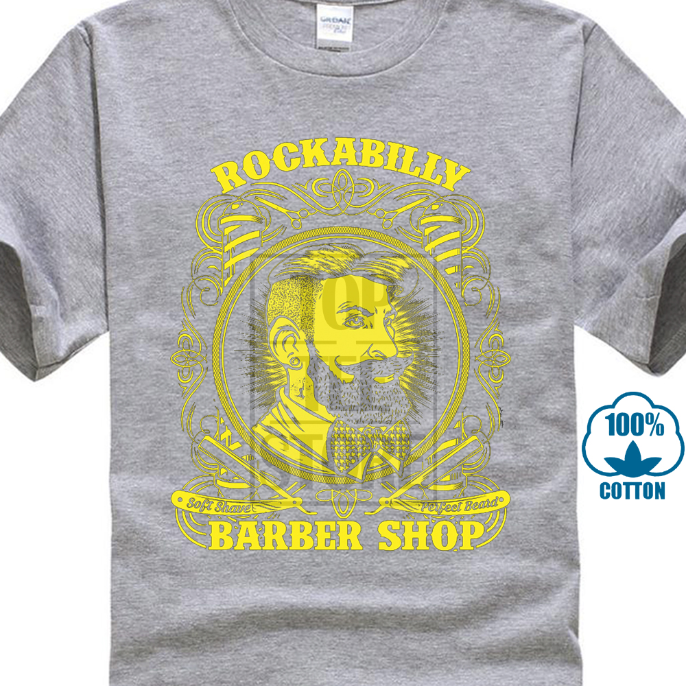 Sosiri noi2017 Rockabilly Barber Shop Hair Shave Razor Foarfece de - Imbracaminte barbati - Fotografie 3