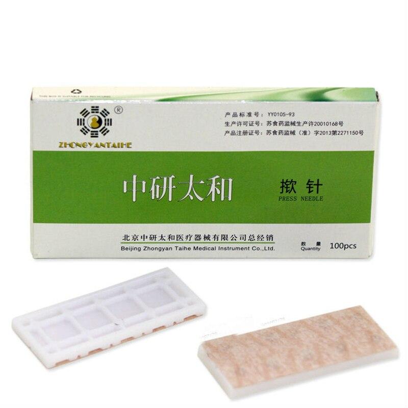 Zhongyan acupuntura одноразовые ухо иглоукалывание иглы стерильные иглы уха массаж иглой уха 0.22*1.5 мм