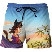 Anime Gragon Ball 3D Board Shorts Men Kid Goku Missing Printed Janpanese Carton Cute Casual Cotton Hoome Swimming
