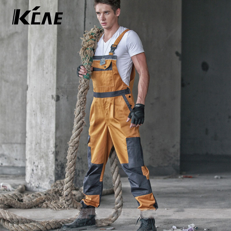 ФОТО 2016 HOT Brand Discount Work Wear Bib Pants Men's Plus Size Tooling Uniform Jumpsuits Loose Casual Overalls Plus Size :M-Xxxl