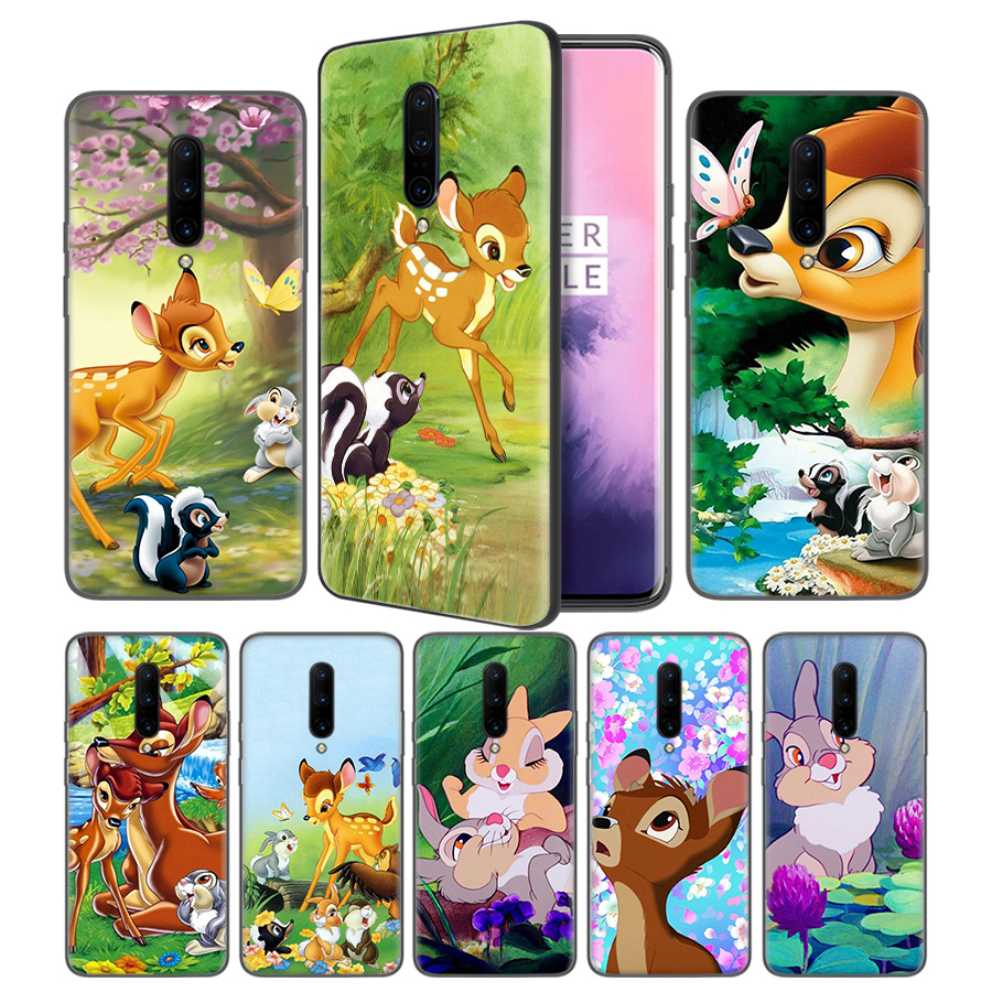 Thumper Bambi Soft Black Silicone Case Cover for font b OnePlus b font 6 6T font