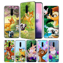 Thumper Bambi Soft Black Silicone Case Cover for OnePlus 6 6T 7 Pro 5G Ultra-thin TPU Phone Back Protective