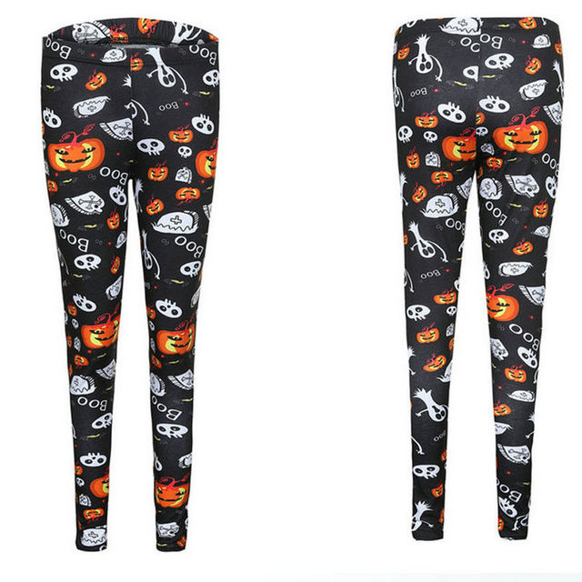 d40978d69e US $5.57 7% OFF|Fashion Halloween Skeleton Bone Printed Leggings Womens  Ladies Fancy Dress Legging Pants-in Leggings from Women's Clothing on ...