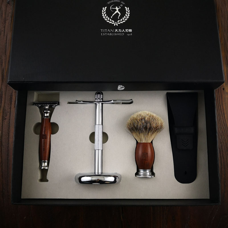 Titan safety razor double edge safety razor set stainless steel Classic Fashion Men Manual Shaver 2018 new girls in the winter of the south korean version of the thick down jacket with a long coat in the hair collar and jacket