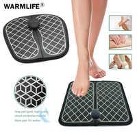 Elektrische EMS Fuß Massager ABS Physiotherapie Revitalisierende Pediküre Zehn Fuß Vibrator Drahtlose Füße Muscle Stimulator Unisex