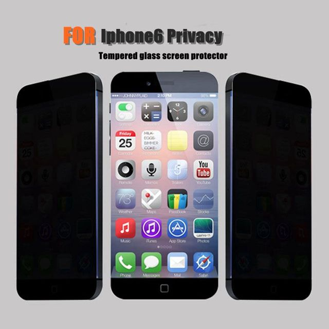 """For iphone 6/6s 4.7"""" Privacy Anti-Spy protective film 0.3mm 2.5D Premium Tempered glass screen protector apple iphone 6"""